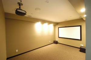 Georgetown Texas Custom Media Room System with Audio Video